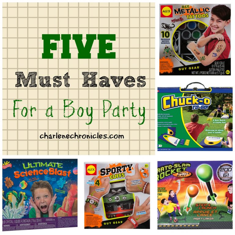 Ultimate Boy Party Must Haves