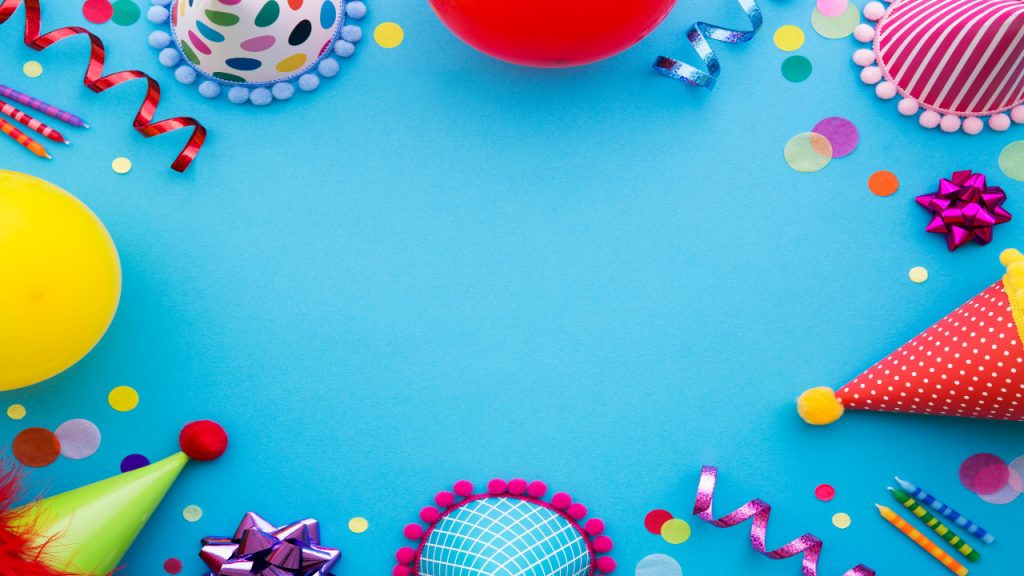virtual birthday party background